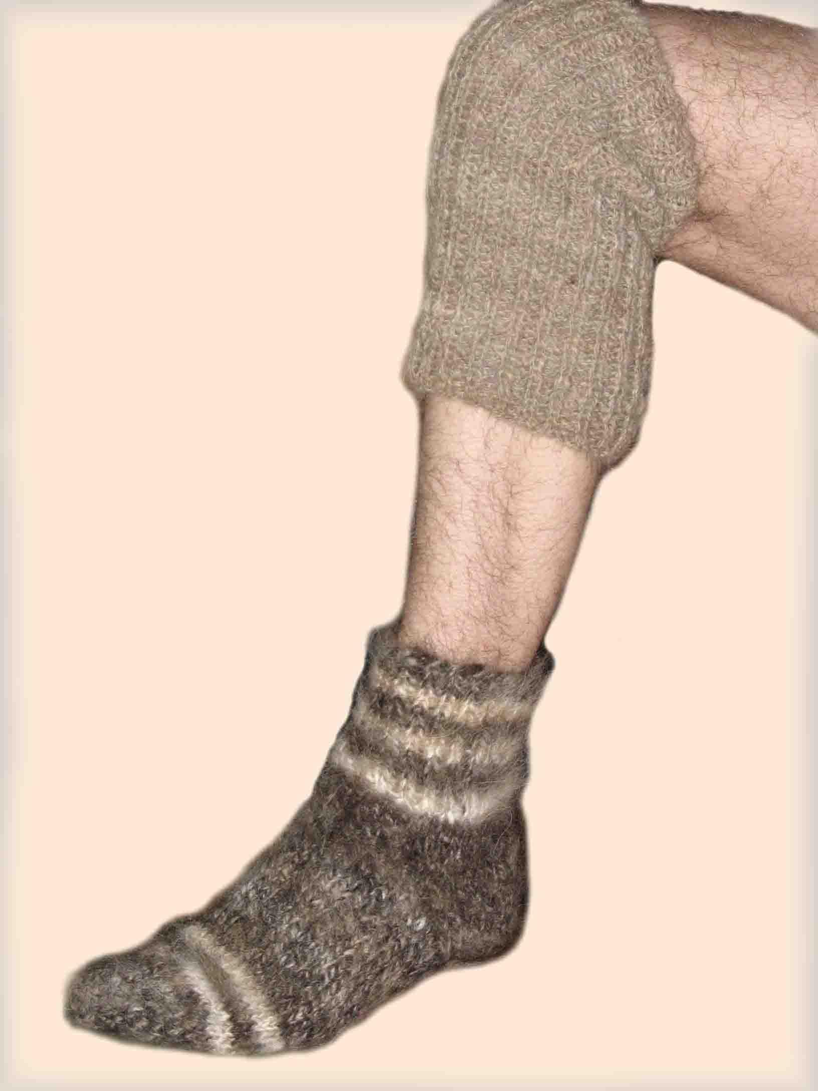 Носки и наколенники из собачьей шерсти